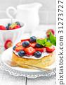 Delicious berry cheesecake 31273727