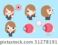 businesswoman with eye problem 31278191