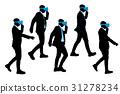 silhouette of businessman 31278234