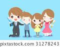 cute cartoon family 31278243
