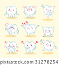 cute cartoon tooth 31278254