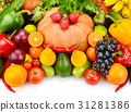 fruit and vegetable isolated on white background 31281386