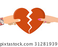 female, heart, holding 31281939