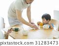 早餐 父母和小孩 親子 31283473