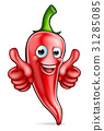 Red Pepper Cartoon Character 31285085