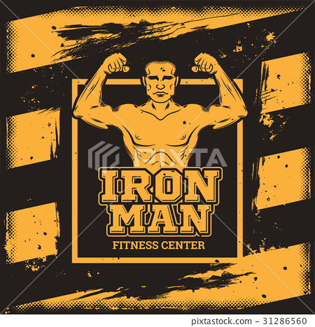 Poster for a fitness center in the grunge style. 31286560