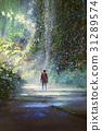 森林 树林 男性 31289574