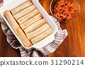 Cannelloni stuffed with meat 31290214
