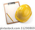 hard, hat, clipboard 31290869