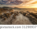 The boiling sea. - Sunset at patong beach in Phuket, Thailand ca 31290937