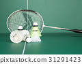 BADMINTON and twin Shuttlecock 31291423