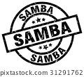 samba round grunge black stamp 31291762