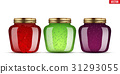 Set of Glass Jars with jam. 31293055