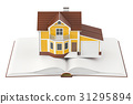 book, opened, house 31295894
