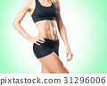 Fit, healthy and sporty woman in sportswear 31296006