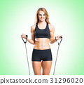 Fit, healthy and sporty woman in sportswear 31296020