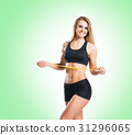 Fit, healthy and sporty woman in sportswear 31296065