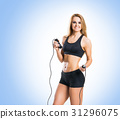 Fit, healthy and sporty woman in sportswear 31296075