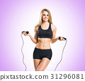 Fit, healthy and sporty woman in sportswear 31296081