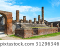 The ruins of the Temple of Jupiter Pompeii, Italy 31296346