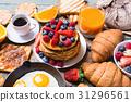 早餐 煎餅 橙色 31296561