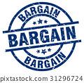 bargain blue round grunge stamp 31296724