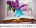 Comprehensive book, on the pages of lilac 31298072