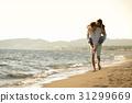 girl, carrying, guy 31299669