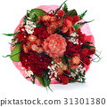 Bouquet of Dry Flowers isolated on White 31301380