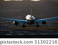 暮色 黃昏 飛機 31302216