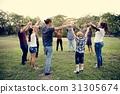 holding, hand, joyful 31305674