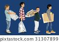 garbage, group, kid 31307899