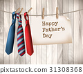 Happy Father's Day Background With A Three Ties 31308368