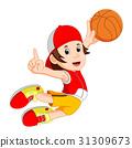 cartoon basketball player 31309673
