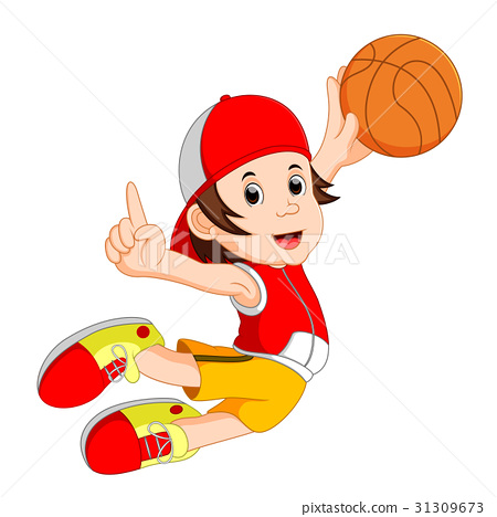 cartoon basketball player 31309673