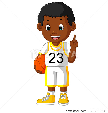 cartoon basketball player 31309674