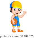 cartoon basketball player 31309675