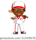 illustration of boy baseball player 31309676