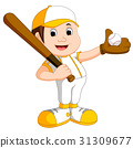 illustration of boy baseball player 31309677