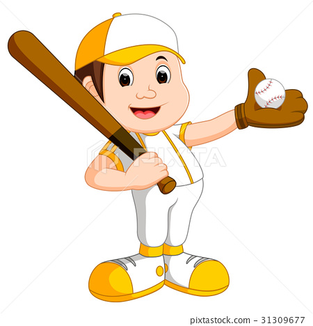 illustration of boy baseball player 31309677