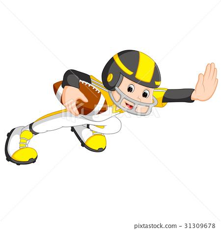 Young kid playing football 31309678