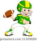 Young kid playing football 31309680