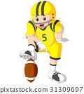 Young kid playing football 31309697
