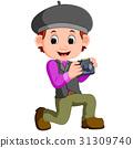 Cartoon character - photographer 31309740