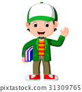 Cartoon male teacher 31309765