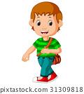 Cute boy go to school 31309818