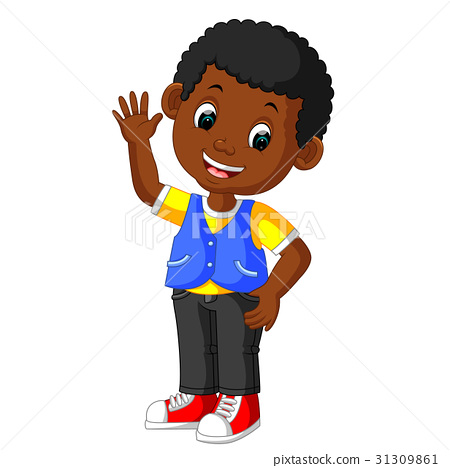 Cute boy cartoon good posing 31309861