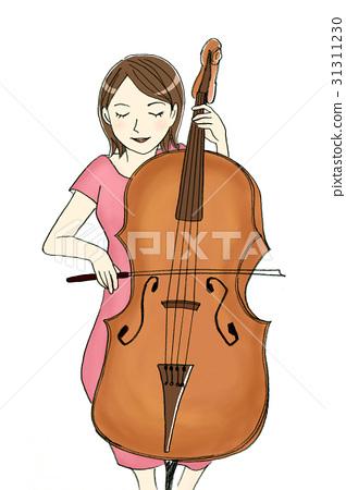A woman playing a cello 31311230