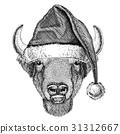 Buffalo drawing hand 31312667