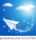 Paper airplane in the sky 31313763